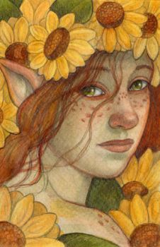 Yellow Flower Fairy by WhimsicalMoon