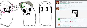 NapstablookGabbi, NapstablookJack..and Napstablook by ScribbleNetty