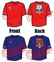 AP Emissions Red and Blue T-shirts by simplemanAT