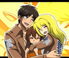 [R.Q for iheartereri] Eren, Kyou and Sydney family by MusaAndStellaOcs