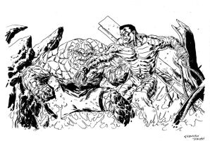 The Thing vs Colossus by FrancescoTrifogli
