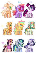 Mane 6 Babies closed by ufpony