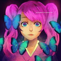 Glass Eyes and Butterflies by chuwenjie