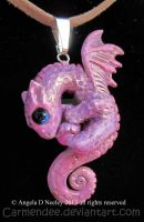 pink dragon by carmendee