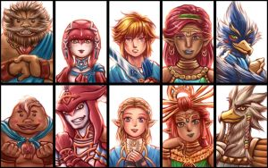 Champions of Hyrule (TLOZ- Breath of the Wild) by Thaumana