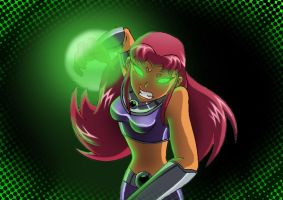 starfire sketch colored 2 :D by Lizalot