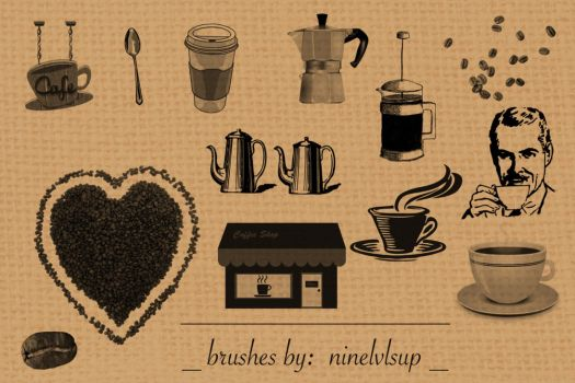 CoffeeShop Brushes by ninelvlsup