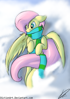It's Cold Up There by DictionArt