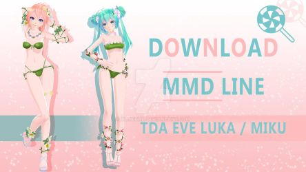 MMD Release: TDA Eve Miku and Luka by xLineChu