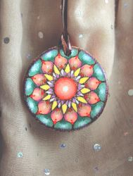 Indian summer mandala - pendant by Aijoku