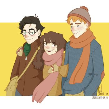 Golden Trio by Grouillote-oh