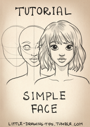 Drawing simple face - TUTORIAL by Anako-ART