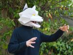 Wolf Mask with Moving Jaw by tetravariations