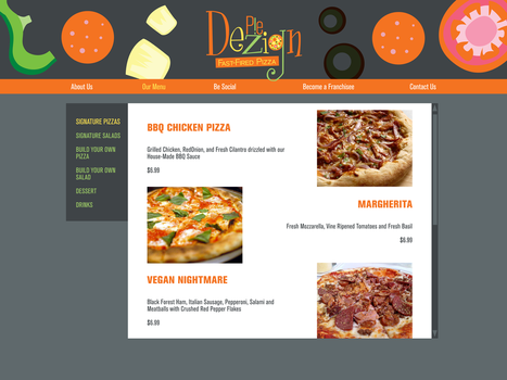 Pie Dezign Web Page by chibiktsn