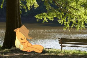 Applejack by the river by Paris7500