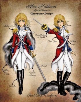 Alice kirkland - Red Coat Design by LaHechicera02