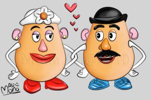 Mr and Mrs Potato Head by Noomy