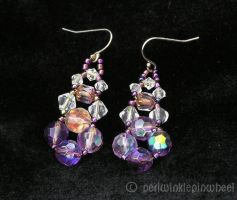 Purple Chandelier Earrings by periwinklepinwheel