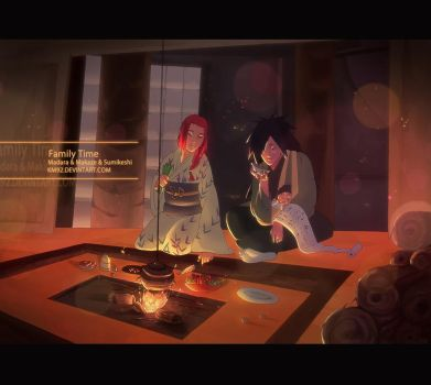 Family time by Uchihas by Km92