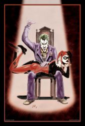 Joker and Harley colored by ArtisticSchmidt