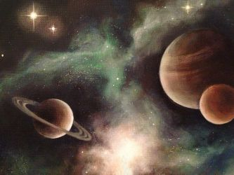 Mars, Jupiter, Saturn by SpeedLimit-Infinity