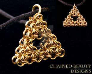 Chainmaille Triforce by ChainedBeauty