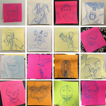Halloween Post Its - P1 by LysoDesigns