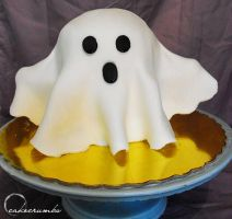 Halloween: Ghost Cake by cakecrumbs