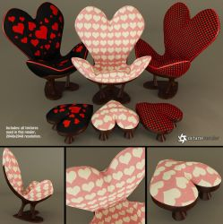 Sweetheart Chair and Footstool (Free) by LuxXeon