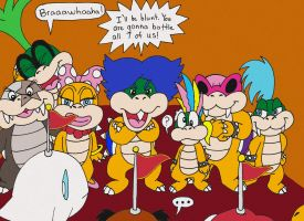 Spolier! Goomba Team vs. the Koopalings by wackko200