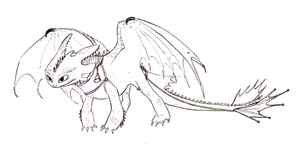 Toothless sketch by alexaAnime1