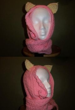 Fluttershy Hooded Scarf by kitsune-chan