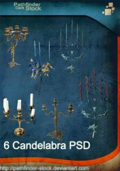Candelabra PSD Pack by Pathfinder-Stock
