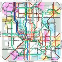 Columbus Subway Map by vidthekid
