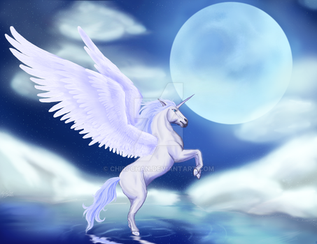 Request: Winged Unicorn by chiri-chan