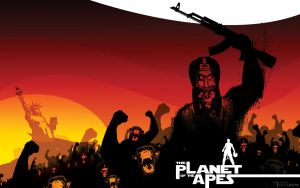 DUSK of the planet of the apes by Tom Kelly by TomKellyART