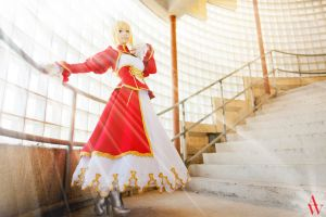 Saber (Fate/Extra) by AndyWana