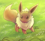 Eevee Meadow Frolic by Ankoku-Flare