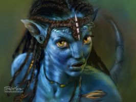 Neytiri Wallpaper the real one by SteveDeLaMare