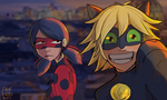 Miraculous Ladybug Selfie with bae :D by chorchori