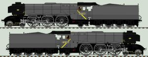 LNER A3 liveries - strategic reserve (fictional) by 2509-Silverlink