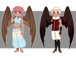 Winged Adopts (SET PRICE: CLOSED) by cindyjeans-designs