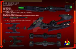 Klingon Crown Ship Data sheet by Kodai-Okuda