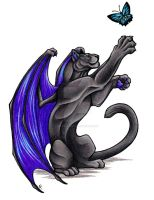 Dragon Panther Commission by WildSpiritWolf