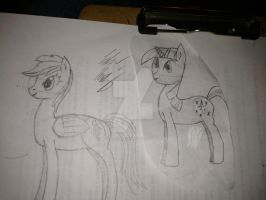 Here's a side-by-side view of my first drawings! by masterchief80786