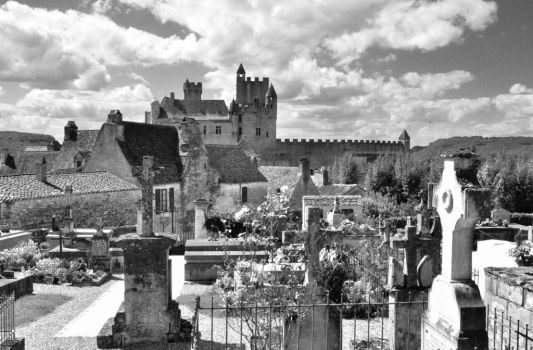 Castle and Village BW 1255 by Bowman19