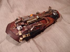 Steampunk arm guard by ChanceZero