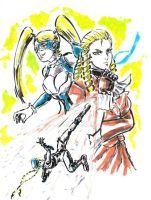 The Blondes of Street Fighter V by Horoko