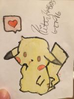 Chibi Pikachu by Kittykat8873