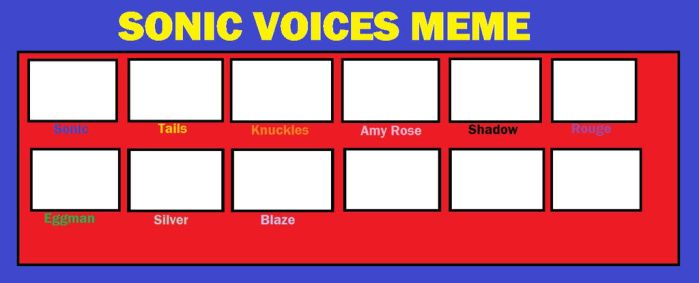 Sonic Voices Meme (UNFINISHED) by Pleebus